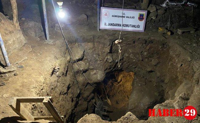 Gümüşhane'de Jandarma Ekipleri Definecilere Suçüstü Yaptı