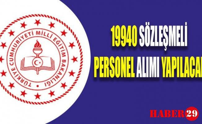 19940 Sözleşmeli Personel Alımı Yapılacak