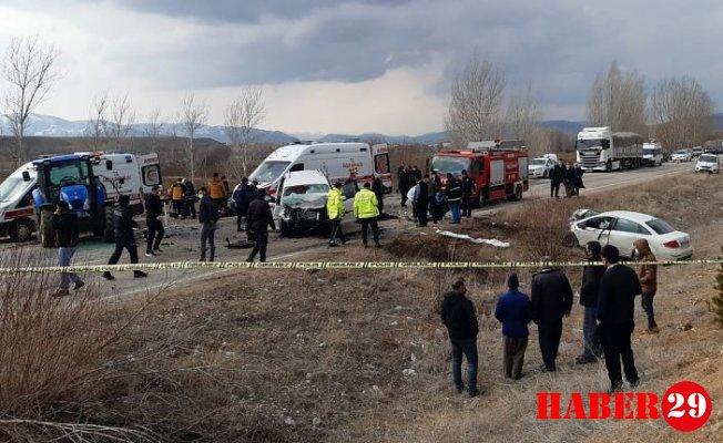 Kelkit'te Zincirleme Trafik Kazası: 6 Yaralı