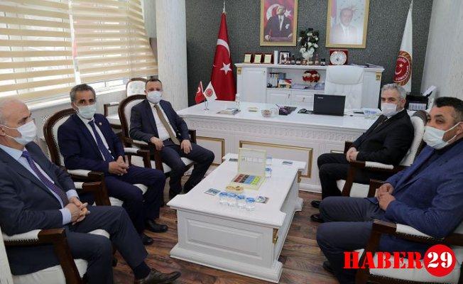 Vali Taşbilek'ten Başkan Erdoğdu'ya Hayırlı Olsun Ziyareti