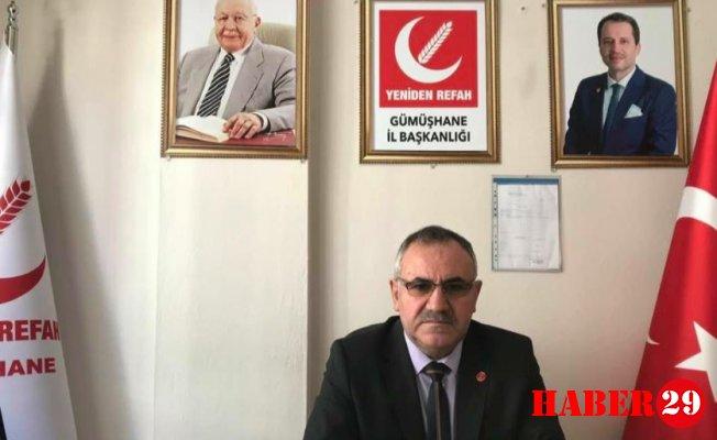 Yeniden Refah Partisi Gümüşhane İl Başkanı Ziya Nas Koçhan'a Seslendi