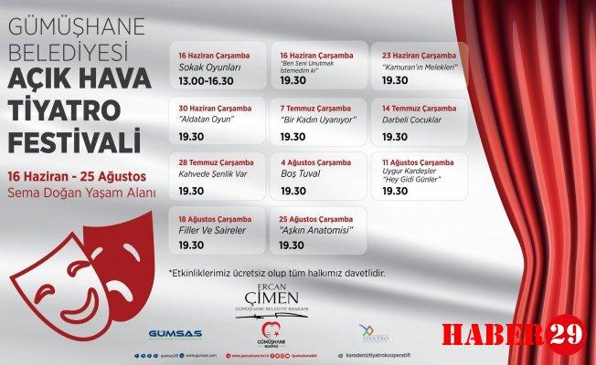 Gümüşhane Belediyesi Açık Hava Tiyatro Festivali