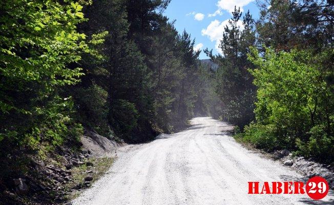 Torul Belediyesi'nden 5 km'lik stabilize yol