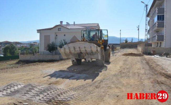 Kelkit Belediyesi Turgut Reis Caddesinde Çalışmalarına Devam Ediyor